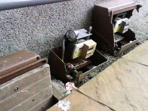 Damaged Surface Mounted Gas Meter Boxes