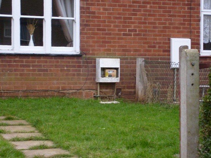 damaged meter box