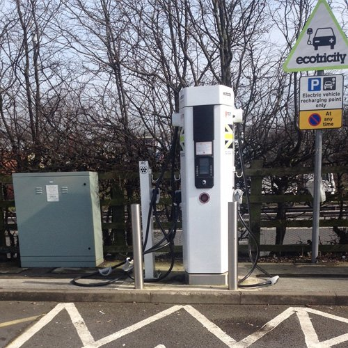 EV charging enclosure RB1000 Ecotricity Motorway