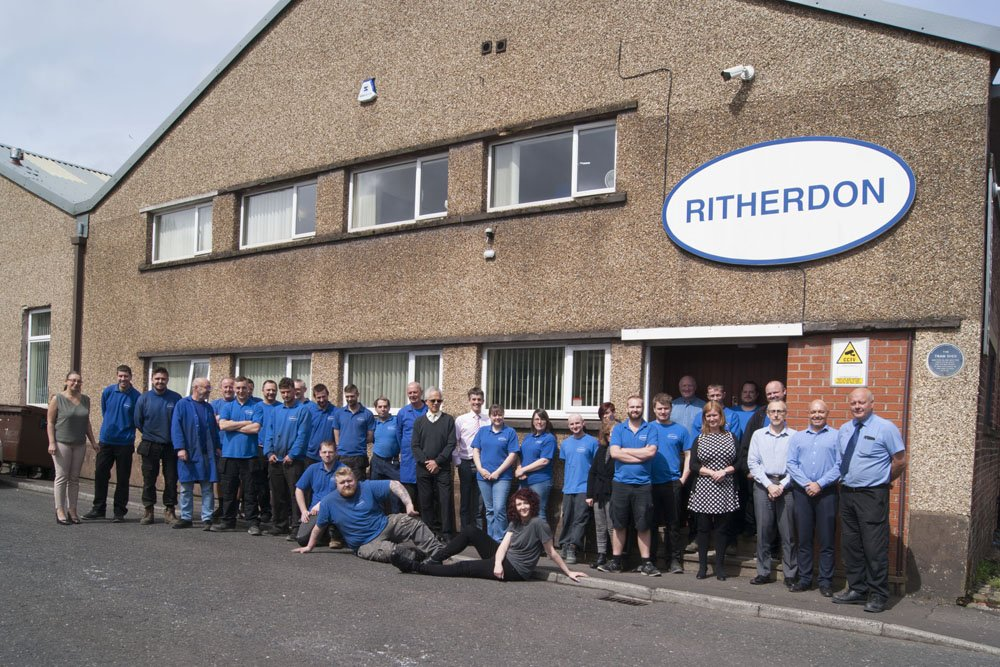 Ritherdon staff with artist Nicola Ellis 2018