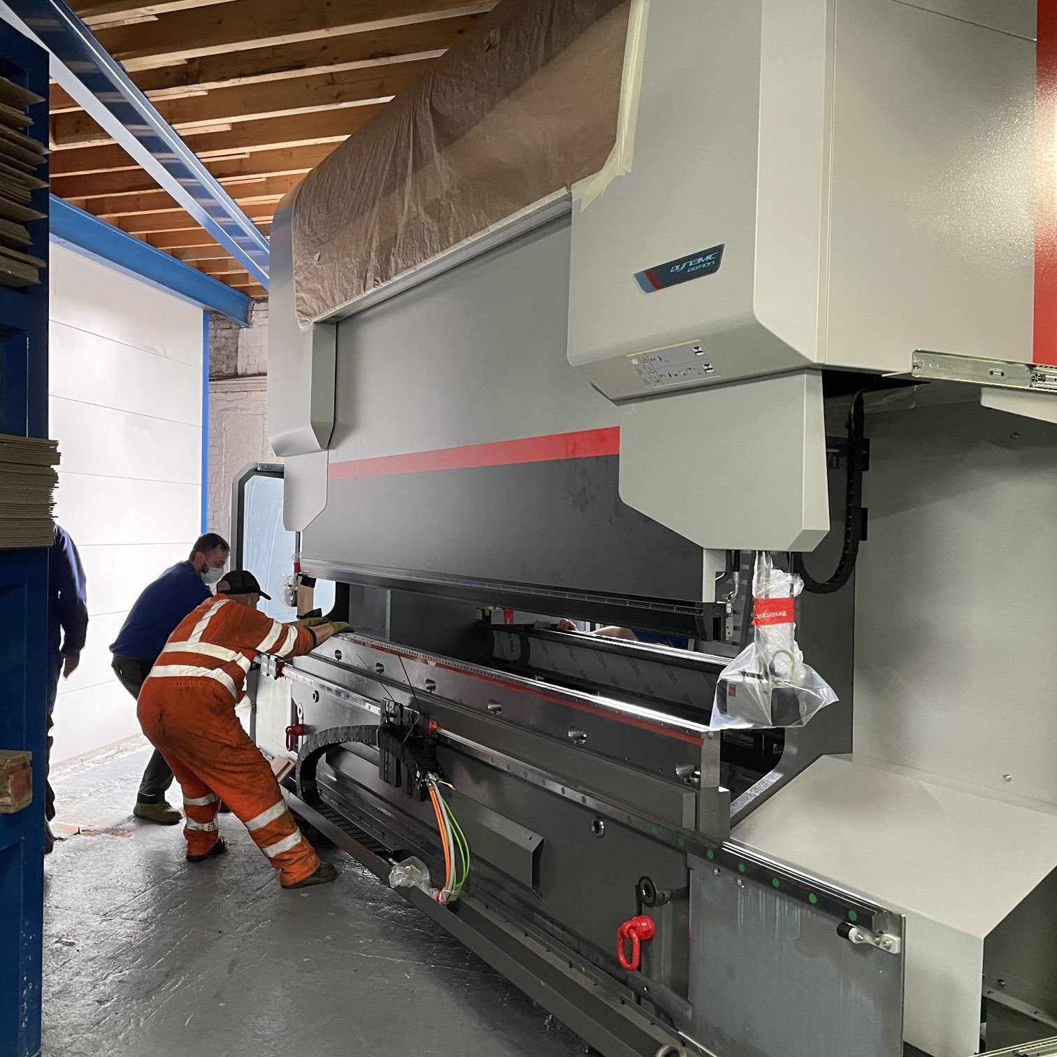 Precision bending- All hands on deck, getting the press brake through the doors