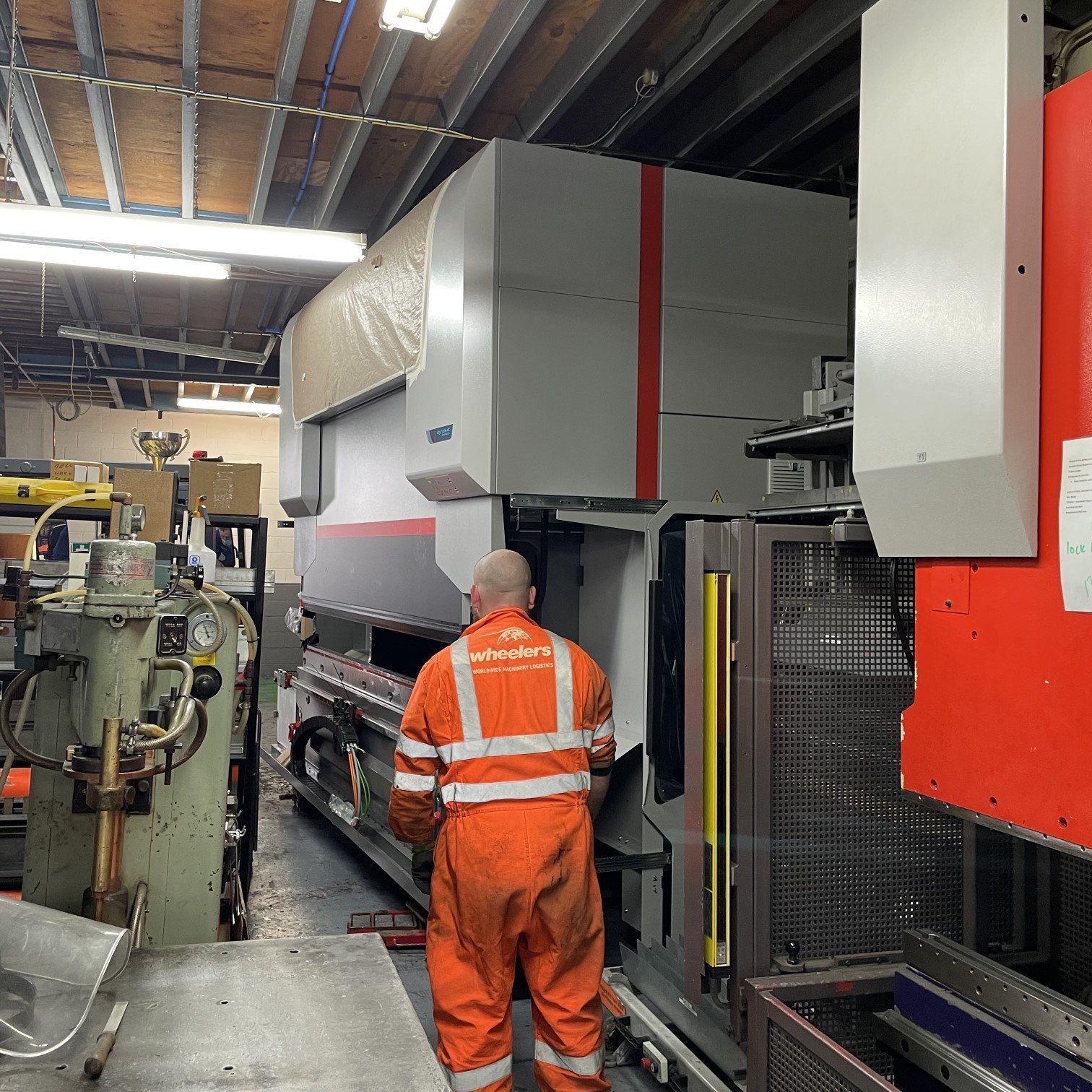 New Investment - It's in! The new press brake moved into its final work station on the shop floor